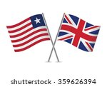 liberian and british  flags.... | Shutterstock .eps vector #359626394