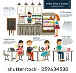 coffee shop and bakery... | Shutterstock .eps vector #359634530