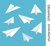 paper planes icon set in simple ... | Shutterstock .eps vector #359649383
