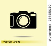 photo camera sign icon  vector... | Shutterstock .eps vector #359650190