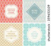 set of vintage frames in red ... | Shutterstock .eps vector #359653109
