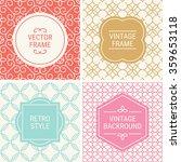 set of vintage frames in red ... | Shutterstock .eps vector #359653118