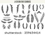 set of hand drawn vector... | Shutterstock .eps vector #359654414