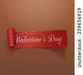 valentines day scroll red... | Shutterstock .eps vector #359656919