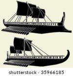 Stock vector the ancient viking ship vector 35966185