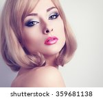 beautiful glamour woman with... | Shutterstock . vector #359681138