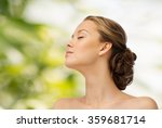 young woman face and shoulders   Shutterstock . vector #359681714