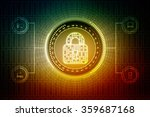 security concept  lock on... | Shutterstock . vector #359687168