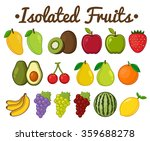isolated fruit collection | Shutterstock .eps vector #359688278