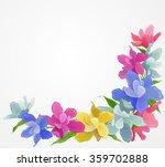 vector vintage flowers set....