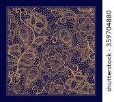 design for square pocket  shawl ... | Shutterstock .eps vector #359704880