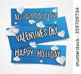 happy valentines day vector...   Shutterstock .eps vector #359709734