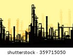 morning thermal power station   ... | Shutterstock .eps vector #359715050