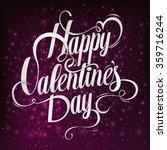valentines day vintage...   Shutterstock .eps vector #359716244