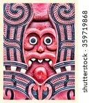historic maori carving  new...   Shutterstock . vector #359719868