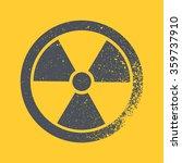 radioactive symbol. design... | Shutterstock .eps vector #359737910