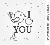 happy valentine's day greetings ... | Shutterstock .eps vector #359745686
