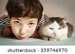 preteen handsome boy with... | Shutterstock . vector #359746970