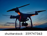 drone quad copter with digital... | Shutterstock . vector #359747363