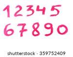 lipstick written numerals... | Shutterstock . vector #359752409