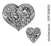 decorative doodle heart in... | Shutterstock .eps vector #359760833