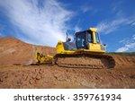 Yellow Construction Bulldozer...
