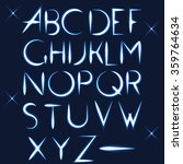 abc alphabet vector light font... | Shutterstock .eps vector #359764634