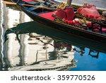 fancy venetian gondola resting...