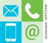 communication icons  mobile... | Shutterstock .eps vector #359771546