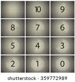 film countdown | Shutterstock .eps vector #359772989