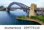 sydney harbour bridge aerial... | Shutterstock . vector #359775110