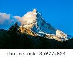 Stock photo sunset over mountain matterhorn in swiss alps switzerland 359775824