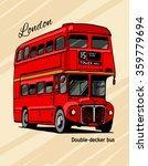london double decker hand drawn ... | Shutterstock .eps vector #359779694