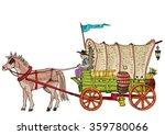 covered wagon   cartoon   Shutterstock .eps vector #359780066