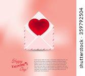 heart in envelope greeting card ...   Shutterstock .eps vector #359792504