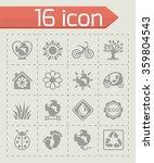 vector eco icon set   Shutterstock .eps vector #359804543