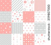 seamless pattern valentine's day   Shutterstock .eps vector #359807000