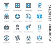 medical   health care icons set ... | Shutterstock .eps vector #359807960