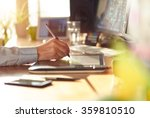 graphic designer working with...   Shutterstock . vector #359810510