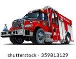 Vector Cartoon Fire Truck. Eps...