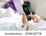 measure heart rate pulse with... | Shutterstock . vector #359818778
