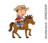 child horseback riding  vector... | Shutterstock .eps vector #359822039