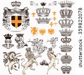 vector set of luxury royal... | Shutterstock .eps vector #359822078