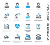 medical   health care icons set ... | Shutterstock .eps vector #359837660