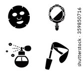 beauty products vector icons | Shutterstock .eps vector #359850716