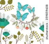 beautiful butterflies design  | Shutterstock .eps vector #359859608