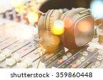 Headpnones On Sound Mixer
