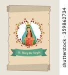 st mary the virgin design  | Shutterstock .eps vector #359862734