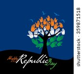 creative republic day of india... | Shutterstock .eps vector #359871518