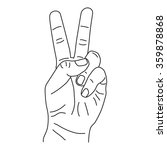 hand sketch show number two... | Shutterstock .eps vector #359878868